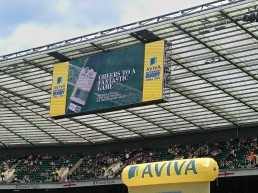 Trivento Supporter of Premiership Rugby, on field advert