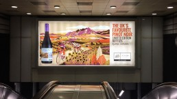 Cono Sur 2016 Official Wine of Le Tour De France 48 sheet billboard at Holborn station