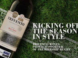 Trivento official supporter of Premiership Rugby, on field advertisement