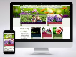 Garsons garden centre and PYO website and ecommerce site