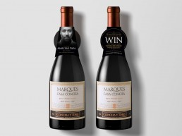 Marques Wine neckcollar, competition to win accredited wine course and introduction to Marcelo Papa, Marque's winemaker