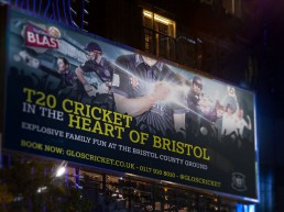 Gloucestershire County Cricket 2015 campaign for T20 in the Heart of Bristol 48 sheet billboard
