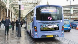 Grand Central Gloucestershire County Cricket T20 Campaign bus backs