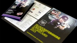 Grand Central Gloucestershire County Cricket 2015 T20 Campaign leaflet