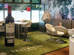 Trivento Kick off booth, proud supporters of Premiership Rugby